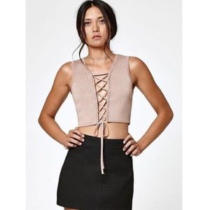 💥💥 Tan Lace up Crop Top by Kendall & Kylie